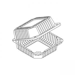 Plastične preklopne kutije za kolače
