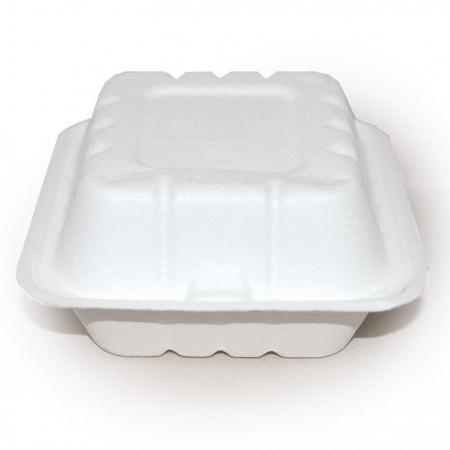 Bio kutija za hamburger od šećerne trske, otvorena