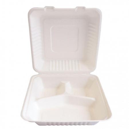 Bio kutija za užinu od šećerne trske, trodjelna