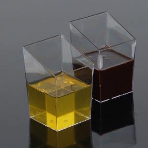 Mini čašica četvrtasta, prozirna