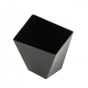 Mini čašica četvrtasta, crna