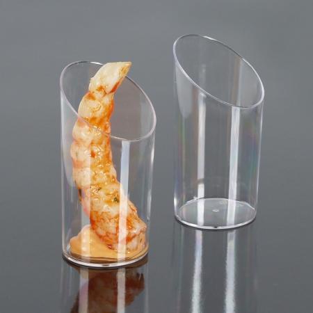 Mini čašica okrugla, prozirna