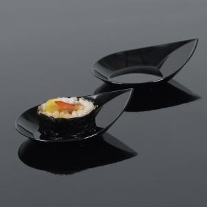 Mini posudice oblik kapi, crne
