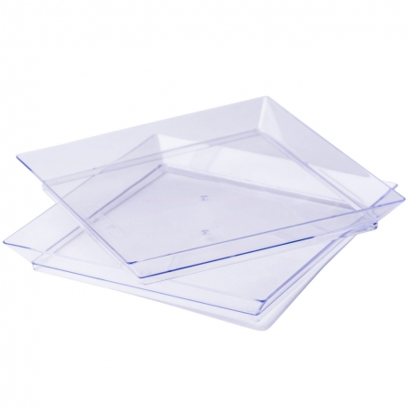 Mini posudica, četvrtasta, 13.0x13.0x1.6cm, prozirna