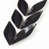 Mini posudica, duguljasta 13.0x4.0x1.8cm, crna