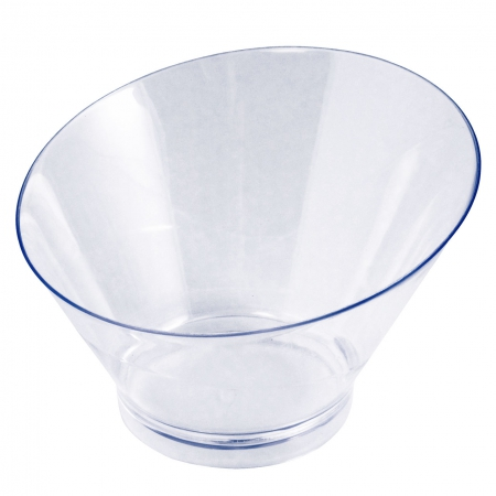 Mini posudica, okrugla Ø 10.3cm, visina 4.4/6.8cm, prozirna