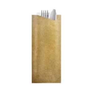 VREĆICA sa 2slojnom salvetom 8,5x19,0cm Classic Stripes smeđa