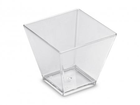 Mini posudica, četvrtasta, prozirna
