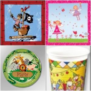 Dječje salvete, tanjuri i čaše